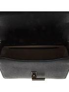 Valextra Black Twist Lock Shoulder Bag In Leather - Black