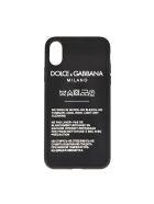 Dolce & Gabbana Black Iphone X Cover In Rubber - Black
