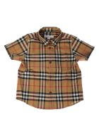 Burberry Checked Print Short Sleeve Teen Shirt