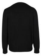 Alexander McQueen Black Wool Jumper - BLACK WHITE