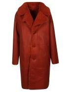 DROMe Fur Coat - Red