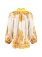 Zimmermann Gathered Printed Blouse - Multicolor