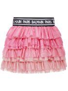Balmain Paris Kids Skirt - Pink