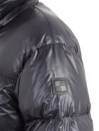 Woolrich Padded Jacket Shirt Collar Side Buttons - Melton Blue