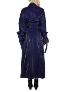 Off-White Navy Blue Trench Coat - Blu
