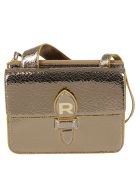 Rochas Rochas Printed Logo Shoulder Bag - Beige/khaki