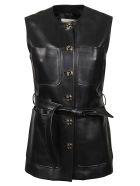 Gucci Tie-waist Sleeveless Jacket - Black