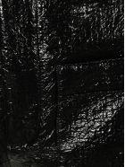 Saint Laurent Faux Leather Shorts - Black