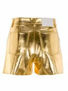MSGM Metallic Shorts - GOLD