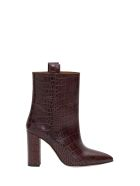 Paris Texas Moc Croco Ankle Boots - Marrone