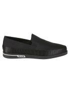 Prada Linea Rossa Side Logo Loafers - Black