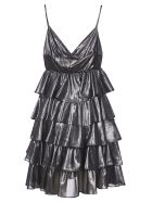 aniye by Ruffled V-neck Dress - Grigio