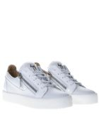 Giuseppe Zanotti White Patent Leather Sneaker - Ice