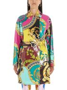 Versace 'barocco Voyage' Dress - Multicolor