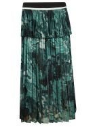 Victoria Beckham High Waist Flared Skirt - green