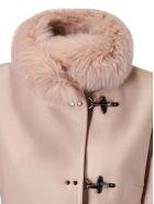 Fay Fur Detail Coat - Avorio