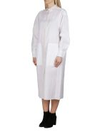 Agnona White Cotton-linen Blend Shirt Dress - White
