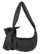 RED Valentino Maxi Bow Padded Shoulder Bag - Black