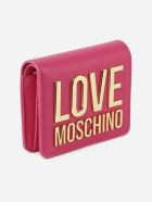 Love Moschino Coin Purse With Embossed Logo - Fuxia