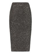 MICHAEL Michael Kors Knit Pencil Skirt - silver