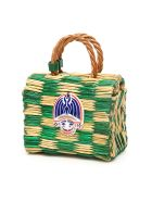 Heimat Atlantica Tom Tom Mini Bag - CHECKED GREEN NATURAL (Beige)