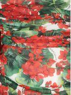 Dolce & Gabbana Silk Dress - Gerani fdo bco nat