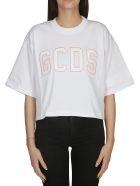 GCDS Cropped T-shirt - White