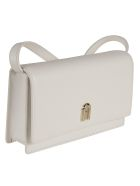 Furla Flap Front Classic Shoulder Bag - White