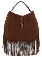 Avenue 67 Brown Suede Handbag - BROWN
