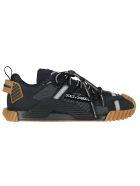 Dolce & Gabbana Ns1 Sneakers In Mixed Materials - Nero/nero