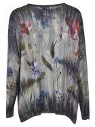 Avant Toi Floral Printed Sweater - Black/Multicolor