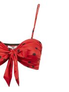 Ganni Dotted Print Swimsuit - Nero rosso