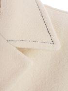 Marni Coat Wool Twill - Stone White