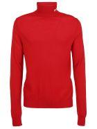 MSGM Turtleneck Sweater - Red