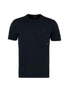 C.P. Company Cotton T-shirt With Chest Pocket - blue