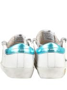 Golden Goose White ''super Star'' Sneakers For Kids - WHITE