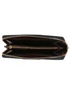 Coach Logo Zip Around Wallet - Midnight navy