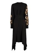 Tory Burch Embroidered Wrap Dress - black