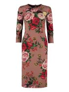 Dolce & Gabbana Printed Crêpe Georgette Dress - Multicolor