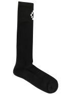 Marcelo Burlon Cross Long Socks - Black/white