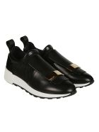 Sergio Rossi Front Flap Sneakers - Black