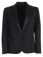 Emporio Armani Jacket Tuxedo Collar Satin - Nero