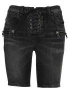 Ben Taverniti Unravel Project Unravel Laced Denim Shorts - BLACK