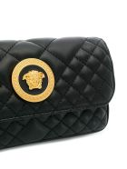 Versace Lambskin Shoulder Bag - Ot Nero Oro Tribute