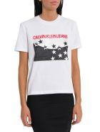 Calvin Klein Jeans Straight Star Logo Tee - Bianco