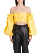 Rotate by Birger Christensen Phoebe Off The Shoulder Top - Oro