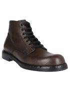 Dolce & Gabbana Brown Leather Boots - Grey