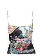 Versace Floral Print Top - Multicolor