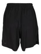 Rick Owens Black Silk Blend Bela Shorts - Black