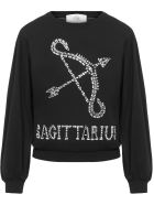 Alberta Ferretti Love Me Starlight Sweater Sweater - Black